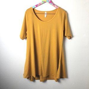 Mustard Yellow LuLaRoe perfect tee size L